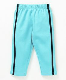 Babyhug Full Length Solid Cotton Track Pant - Aqua Blue