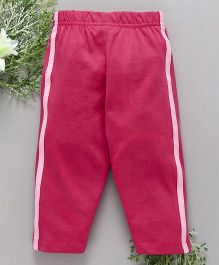 Babyhug Full Length Solid Cotton Track Pant - Dark Pink