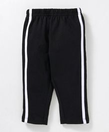 Babyhug Full Length Solid Cotton Track Pant - Black