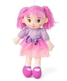 Karma Candy Doll With Tutu Frock Pink Purple - Height 34 cm