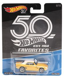 Hotwheels 69 Camaro Yellow Toy Car - Yellow