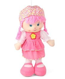 Karma Candy Doll With Frock & Hat Light Pink - Height 62 cm
