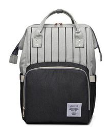 Vismiintrend Waterproof Backpack Style Diaper Bag With Insulated Pockets - Grey