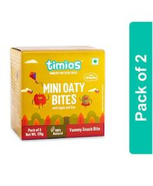 Timios Apple & Kiwi Mini Oaty Bites - 120 gm