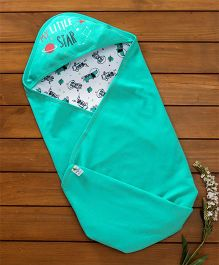 Cucumber Hooded Wrapper Space & Animal Print - Blue