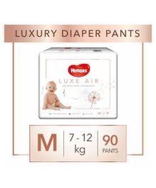 Huggies Luxe Air Medium Size Pant Style Diapers - 90 Pieces