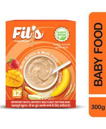 Fil's Organic Baby Cereal With Milk Multi Grains & Multi Fruits -  300 gm