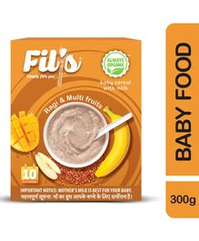 Fil's Organic Baby Cereal With Milk Ragi & Multi Fruits - 300 gm