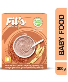Fil's Organic Baby Cereal With Milk & Ragi - 300 gm