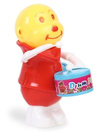 Luvely Drum Player Wind Up Toy - 19 cm (Color May Vary)