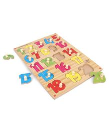 Kinder Creative Wooden Number Board With Knobs Puzzle - Multicolor