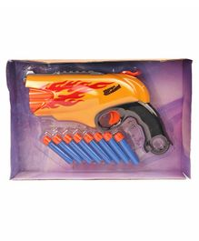 Chhota Bheem Space Blaster Dart Gun - Orange & Yellow