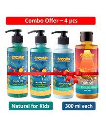 Cocomo Minty Sea Range Face & Body Combo Pack of 4 - 300 ml Each