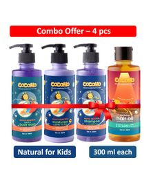 Cocomo Moon Sparkle Range Face & Body Combo Pack of 4 - 300 ml Each