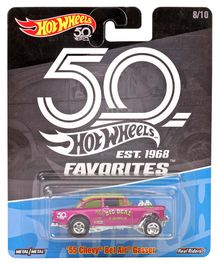 Hotwheels 50 Chevy Bel Air Gassern Toy Car - Magenta
