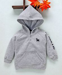 Simply Full Sleeves Hooded Sweatshirt - Grey