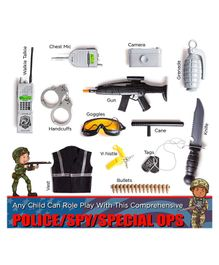 Vibgyor Vibes Police Costume Role Play Set - Black
