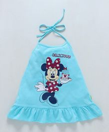 Bodycare Halter Neck Frock Minnie Mouse Print - Blue