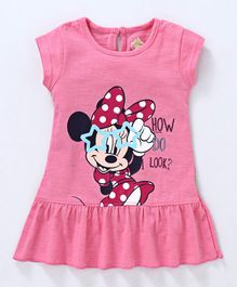 Bodycare Short Sleeves Frock Minnie Mouse Print - Pink