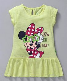 Bodycare Short Sleeves Frock Minnie Mouse Print - Yellow