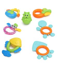Dr.Toy Baby Rattle Set Pack of 7 - (Design and colour may vary)
