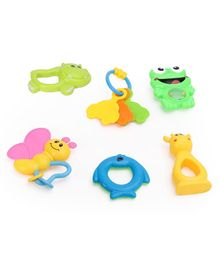 Dr.Toy Baby Rattle Set Pack of 6 - Multi Color