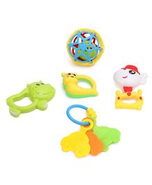 Dr.Toy Baby Rattle Set Pack of 5 -  Multi Color