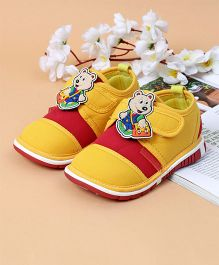 Cute Walk by Babyhug Shoes With Teddy Patch - Yellow