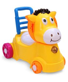 Horse Shaped Potty Chair With Wheels - Yellow