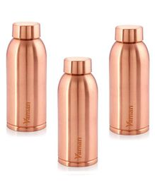 Hazel Vaman Copper Water Bottle Set of 3 - 600 ml Each