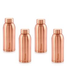 Hazel Vaman Copper Water Bottle Set of 4 - 600 ml Each