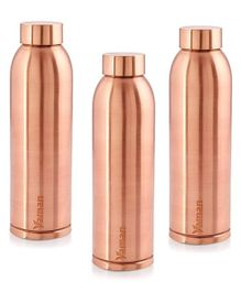 Hazel Vaman Copper Water Bottle Set of 3 - 900 ml Each