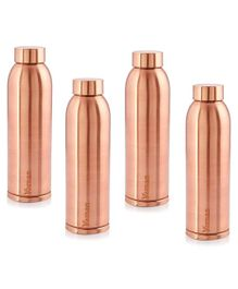 Hazel Vaman Copper Water Bottle Set of 4 - 900 ml Each