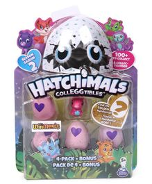Hatchimals Collectables Pack of 4 - Pink and Blue