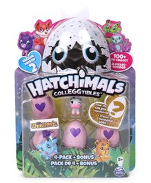 Hatchimals Collectables Pack of 4 - White & Pink