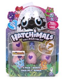 Hatchimals Collectables Pack of 4 - Blue & Purple