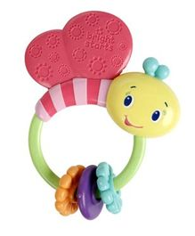 Bright Stars Butterfly Shape Rattle - Multicolour