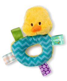Bright Stars Cuddle & Shake Rattle Duck Shape - Multicolour
