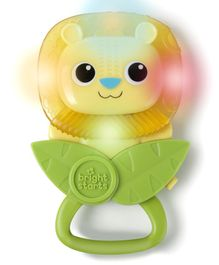 Bright Stars Shake & Play Lion Shaped Rattle - Green Yellow