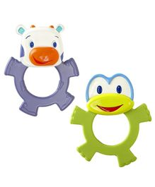 Bright Stars Dancing Teethers Pack of 2 - Green Yellow