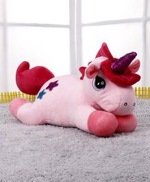 Starwalk Lying Unicorn Plush Soft Toy Pink - Height 37 cm