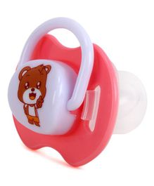 Kassy Pop Silicone Nipple Baby Pacifier Bear Print - Pink