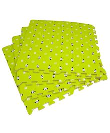 BabyPro Puppy Design Floor Interlocking Play Mat Green - Set of 4 Tiles