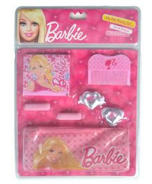Barbie My Fab Beauty Set Hair Accessories With Pouch Pink - 7 Pieces