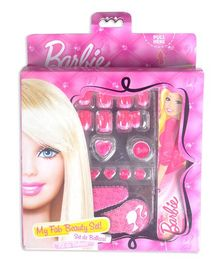 Barbie My Fab Beauty Set Box Nail And Hair Accessories With Mirror - Pink