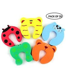 Syga Children Safety Foam Door Stopper Pack Of 20 - Multicolor