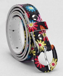 Babyhug Floral Printed Belt - Black