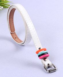 Babyhug Belt With Fashion Rings - White