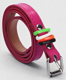 Babyhug Belt With Fashion Rings - Pink