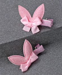 Babyhug Glitter Bow Alligator Hair Clip - Pink